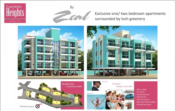 Exclusive two bedroom apartments surrounded by lush greenery  Cunchelim, Mapusa