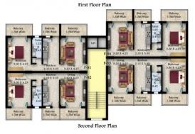 1Bhk Terrace flat floor plan