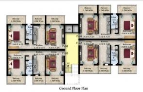 1Bhk Ground floor plan