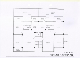 2Bhk E Building Ground floor Plan