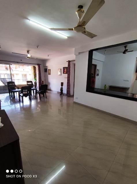 2Bhk 121sqmt flat furnished for Rent in Porvorim, North-Goa. (35k)