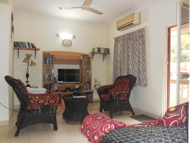 2 Bhk 107sqmt flat fully furnished for Rent in Candolim, North-Goa.(35k)