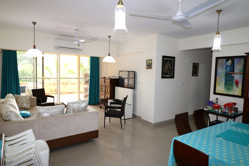 2 Bhk 168sqmt flat with terrace for Sale in Porvorim, North-Goa.(1.10Cr)