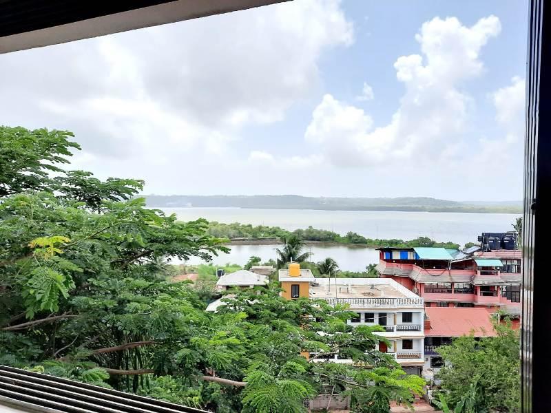 2 Bhk 111sqmt Riverview flat for Rent in Ribandar, North-Goa.(30k)