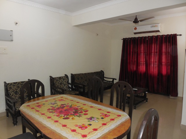1Bhk 70sqmt flat furnished for Rent in Candolim, North-Goa.(22K)