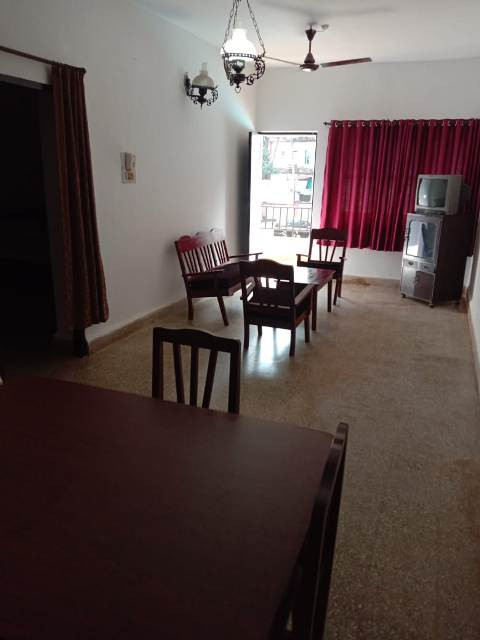 1 Bhk 76sqmt flat Semi-furnished for Rent in Calangute, North-Goa. (20k)