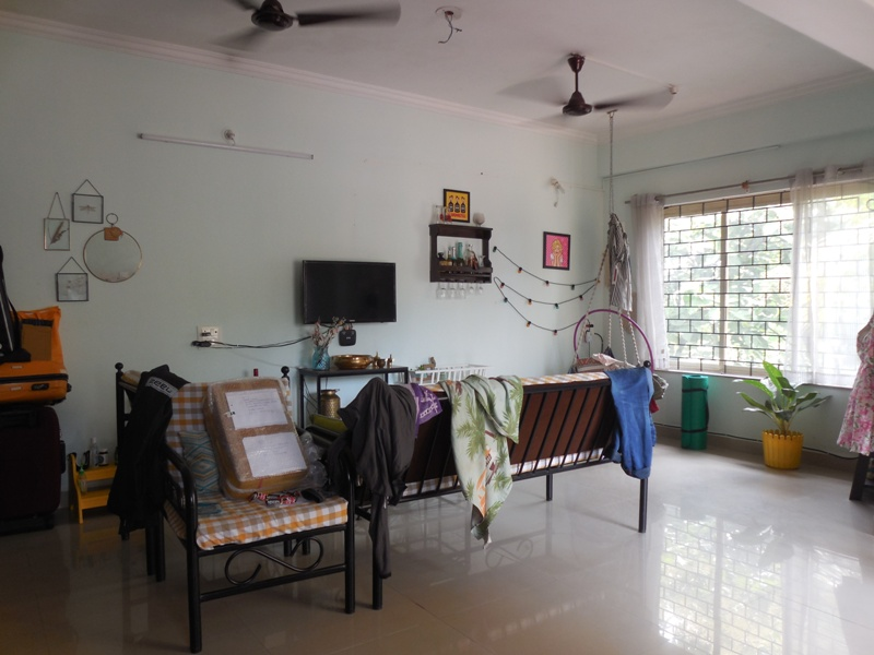 1 Bhk 88sqmt flat with terrace for Sale in Sangolda, North-Goa.(55L)