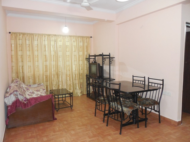 1 Bhk 60sqmt flat fully furnished for Rent in Calangute, North-Goa.(16k)