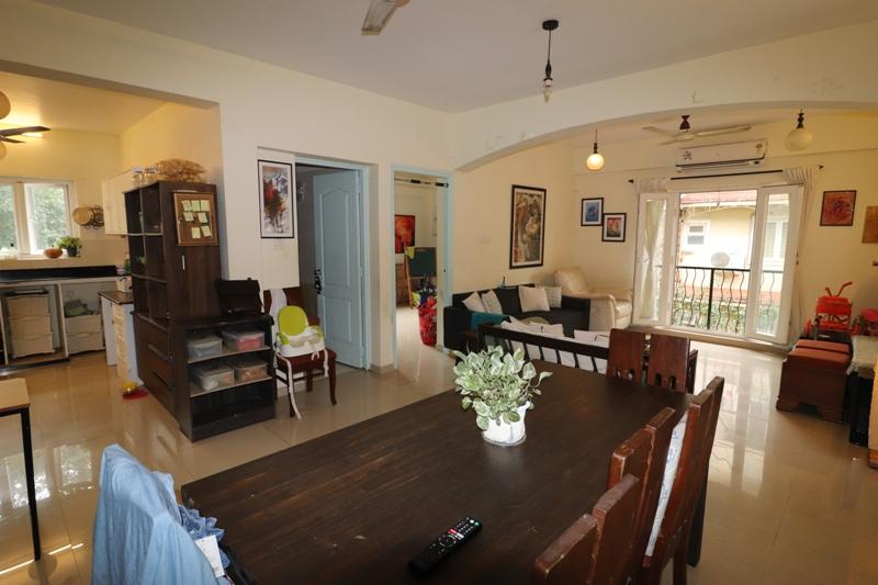 3 Bhk 135sqmt flat furnished for Sale in Socorro-Porvorim, North-Goa.(1.10Cr)