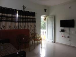 1 Bhk 62sqmt flat furnished for Rent in Anjuna, North-Goa. (15K)